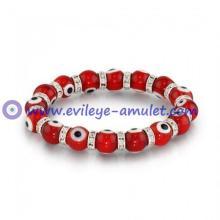 Evil Eye Beads 10mm Crystal Bracelet
