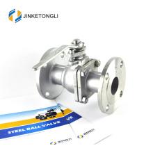 JKTLFB025 acero inoxidable a216 wcb 2pc flotador teflon 30 válvula de bola
