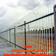 Curved type zinc steel wrought iron fence