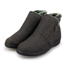 Camurça inverno térmica pêlo curto Pansy feminino forrado Ankle Boots