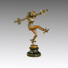 Estatua del bailarín Danza del golpecito Escultura de bronce, a. Titze TPE-435