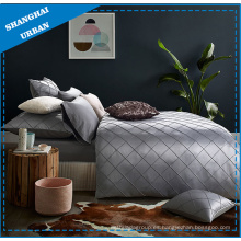 Ropa de cama de lujo de algodón satinado juego de edredón