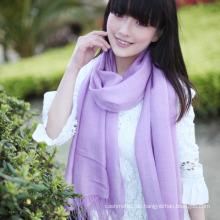 Mode 50% Wolle & 50% Bambus festen Schal (13-BR010119-1.6)