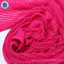 2014 Nouveau design Évider écharpe de laine à tricoter grande taille SWW725-11