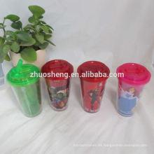 hermosa tazas de plástico 400ml alta calidad