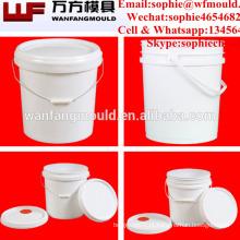 O OEM projeta os baldes plásticos com o tambor de injeção plástico da fonte de China do molde das tampas para vendas