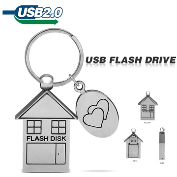 Movimentação do flash do Usb 32gb da memória Flash da casa do metal