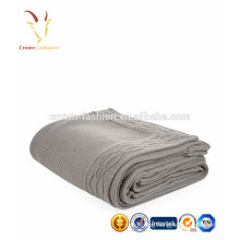 Super Soft Luxury Knitted Cashmere Cable Knit Throws Blankets