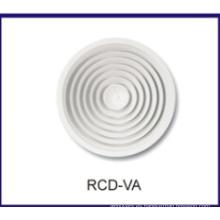 redonda de techo difusor, rejilla ajustable, difusor de aire de la HVAC
