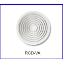 round ceiling diffuser, adjustable grille, HVAC air diffuser