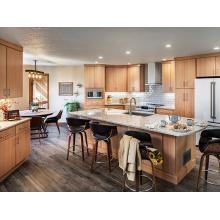Современный дизайн мебели для кухонных шкафов из шпона