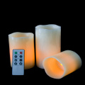 Parafin lilin remoted flameless LED pilar lilin