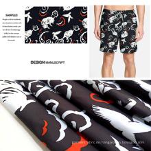 Phantasie-Tier-Design Polyester gebürstet bedruckte lässige Kleidung Stoff