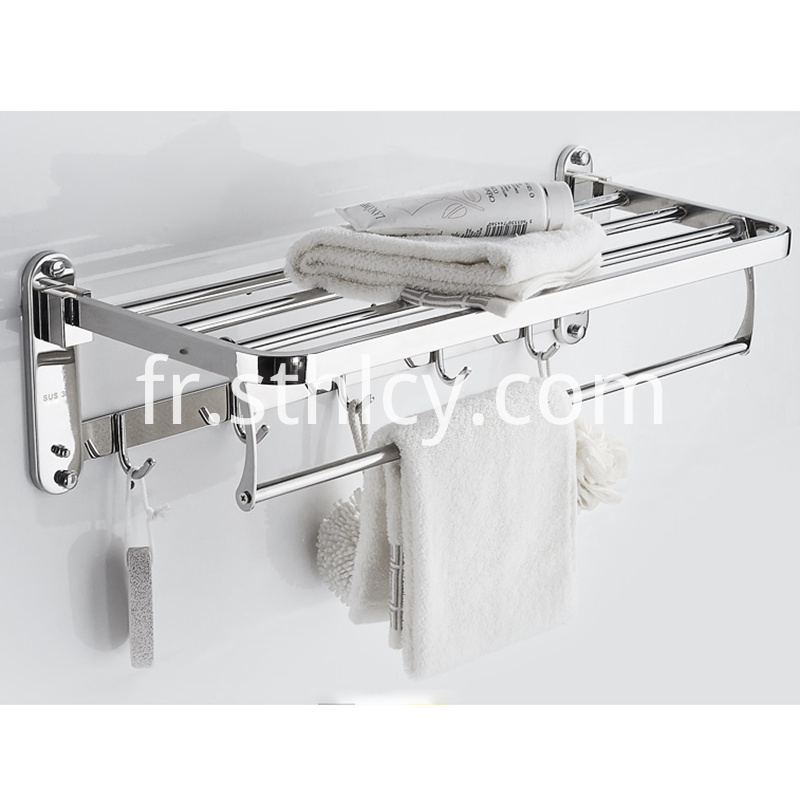 Stainless Steel Towel Rack For Bathroom