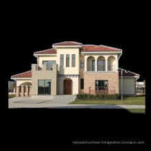 Prefabricated light steel tuscany style villa