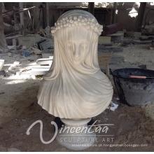 Venda quente designer de decoração para casa de pedra escultura de mármore feminino bustos