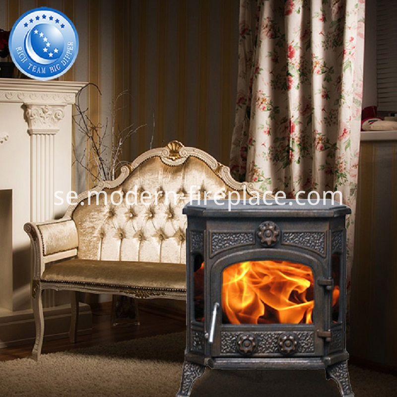Cast Iron Stoves Wood Burning 73% High Efficiency