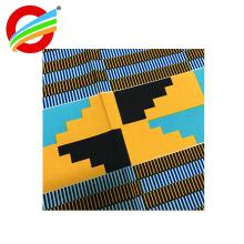 tecidos de impressão de cera africano real por atacado de poliéster para vestuário
