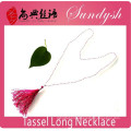 Latest Winter Jewelry Unique Handmade Tassel Necklace Crystal Bead Long Necklace