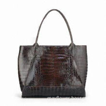Croco PU Leather Tote/Hand Bag, Fashionable and Large Volume, OEM is Accepted