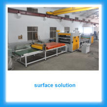 High gloss panel production line/PUR Hot Melt Glue laminating Machine for MDF Board
