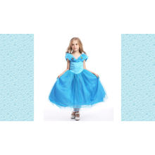 2017 Beautiful White And Light Blue Dress Tulle Lace Tiered Little Princess Flower Girl Dress Patterns Free