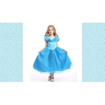 Boutique-Kleidungs-Stickerei-Satin-feenhaftes spanisches Blumen-Mädchen-Kleid der Qualitäts-eleganter Kinder
