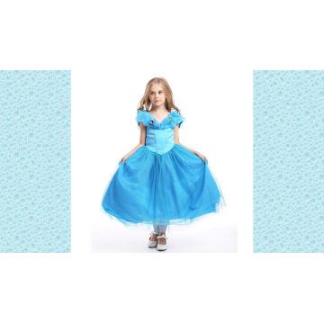 2017 Belle Blanc Et Bleu Clair Robe Tulle Dentelle Étagée Petite Princesse Fleur Fille Robe Modèles Gratuit