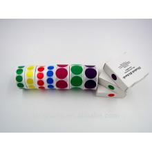 proveedor de etiqueta adhesiva de etiqueta de color redondo de punto de color