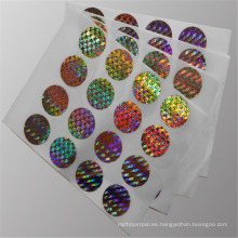 Película holográfica de metalización de basilema láser desechable