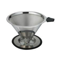 Venta caliente Amazon sin papel lavable y reutilizable vierte sobre el filtro de café