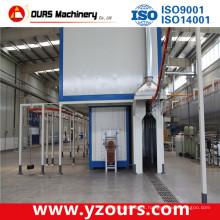 Máquina de revestimento de pó exportado e linha de revestimento automático em pó