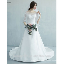 Elegant stunning Scoop gowns Three-Quarter sleeve wedding dresses bridal dresses prom gown prom dresses ball gown TS171