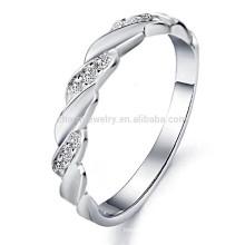 2014 nouvelle bijoux en gros tendance de la mode boutique exquis vendant l'anneau d'or blanc des hommes DJ911