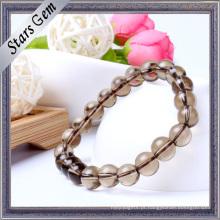Vários tamanhos Clear transparente Smoky Crystal Bracelet