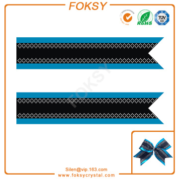 New Fashion Design for Cheer Bow Strip Rhinestone Transfer Geometric rhinestone cheer bowtique strip patterns export to Portugal Factories