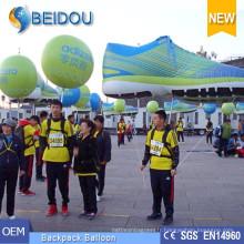 Ballons publicitaires Déménagement en marche Luminaire LED Décoration Gonflable Sac à dos Ballon