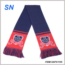 Factory Wholesale Manufacture Jacquard Scarf Soccer Scarf Football Scarf