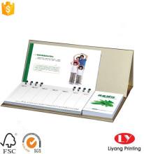 नोटपैड छपाई के साथ कस्टम डेस्क कैलेंडर