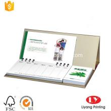 Custom desk calendar with notepad printing