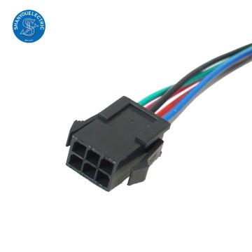 chicotes de fiação do passo do conector 2.5mm do sm 6 pin do co elétrico do shanyou do yantai., ltd