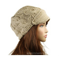 Women′s Winter Fashion Knit Visor Beanie Cap