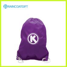 El logotipo promocional del precio de fábrica imprimió la mochila de encargo del cordón RGB-012