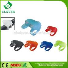 New style silicone bicycle light 2 led bike or bicycle lamp