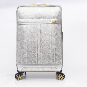 Snake Leather Travel Trolley Suitcase