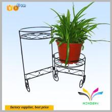 Cesta de arame preto para planta interior de jardim interior Fornecedores de plantas Cesta de arame