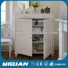 Schöne weiße Haus Möbel Lagerung Zwei Türen Schrank MDF Side Cabinet