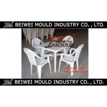 Fabricación de moldes de sillas y mesas de plástico al aire libre en China Huangyan