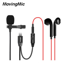 Factory Custom Lavalier Condenser Smart Microphone For Iphone Recording