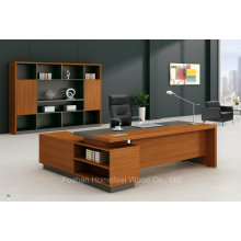 2016 Modernes Golden Teak Melamin Executive Tisch mit Beistelltisch (HF-BS1615)